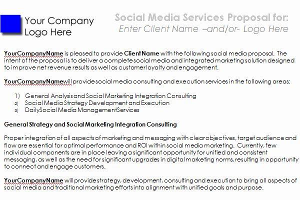 Social Media Proposal Templates Fresh Social Media Proposal Proposal Templates Free Social Media Templates Business Proposal Template Social media proposal templates
