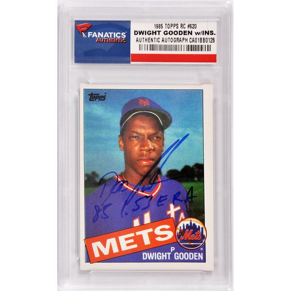 Dwight Gooden New York Mets Fanatics Authentic Autographed 1985 Topps #620 Rookie Card with 85 1.53 ERA Inscription - $49.99