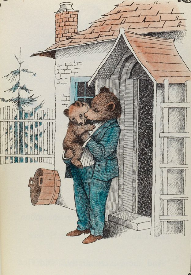"""An illustration by Maurice Sendak in scarce first editions of Minarik's beloved """"Little Bear"""" series of readers."""
