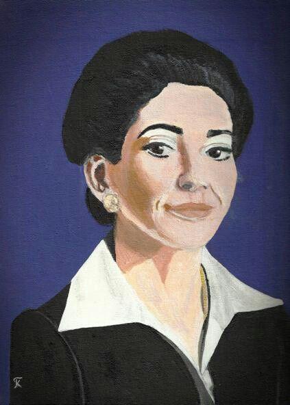 Kostas Giannopoulos (1975-), Maria Callas, acrylic on panel canvas