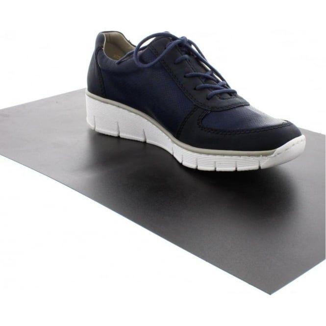 Rieker 53714-14 Ladies Blue Lace shoes