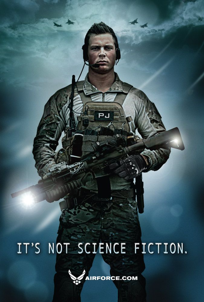 Air Force Recruitment Poster: It's Not Science Fiction. #airforce #usaf                                                                                                                                                      More