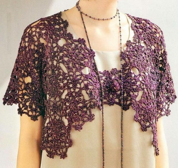 Crochet Sweater: Crochet Bolero - Elegance for Evening