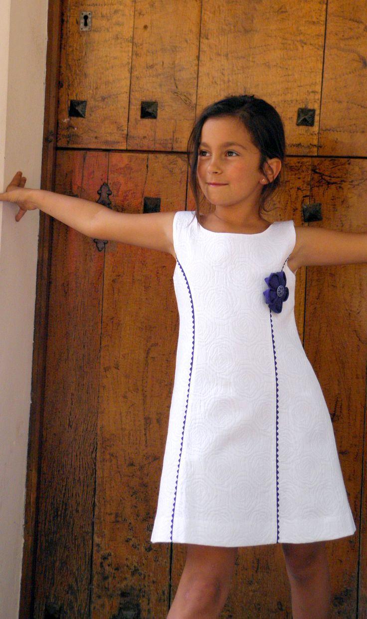 Vestido brocado blanco