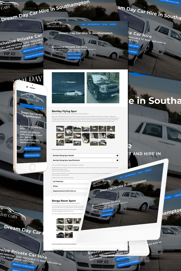 The New 1 page Website for Dream Day cars in Southampton https://hostcat.co.uk/project/dream-day-car-hire-southampton/