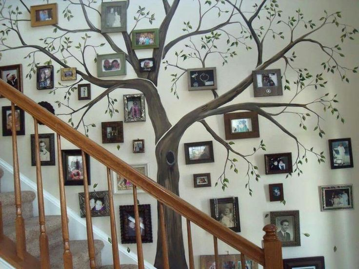 DIY staircase family tree. Perfect for making a house your home.