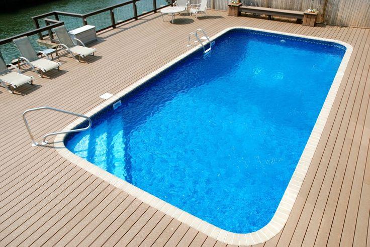 Trex Decking Around In Ground Pool Long Island Decks