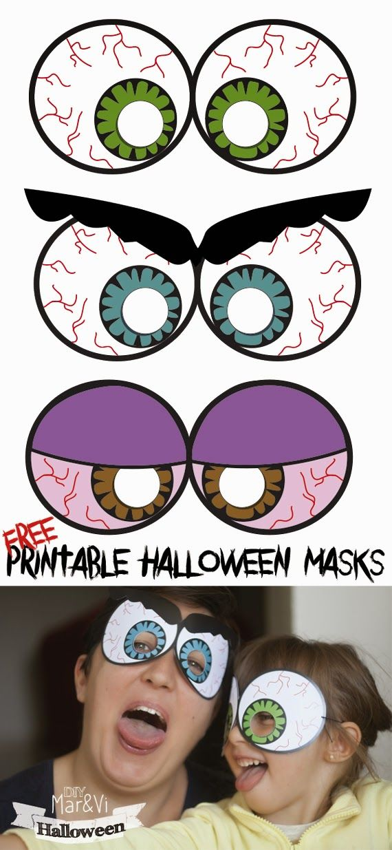 Máscaras de Halloween para descargar gratis #Halloween #Mask #freeprintable