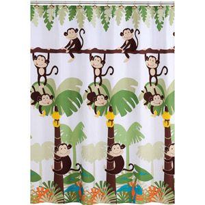 Mainstays Monkey Decorative Bath Collection - Shower Curtain