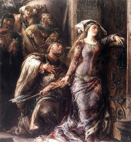 Jan Matejko - Dymitr of Goraj and Jadwiga of Poland.
