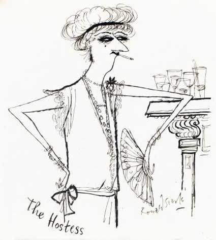 By Ronald Searle. Hostess.