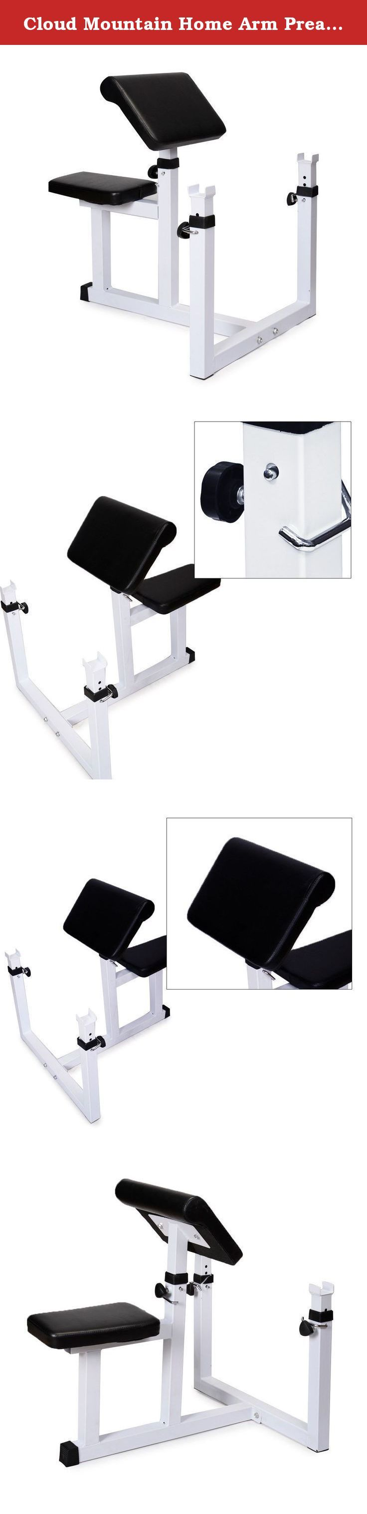 Cloud Mountain Home Arm Preacher Curl Weight Bench Seated Preacher Isolated Curl Dumbbell Biceps, White. Get a strong workout and build thick, crowned biceps when you use this machine in the comfort of your own home. The pad is angled specifically to isolate the biceps to the maximum level. The bicep curl machine is constructed from heavy-gauge steel. The bench features an extra-wide seat and arm pads for your comfort. Features: -Reinforced steel frame for complete core workouts. -Extra…