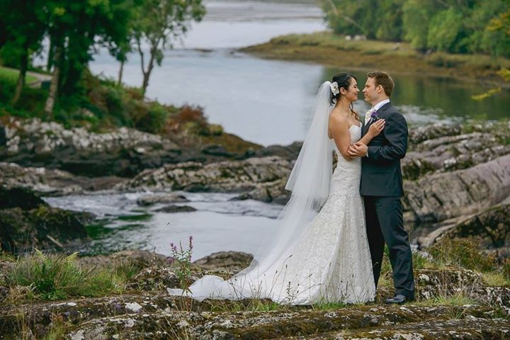Couple at the water's edge