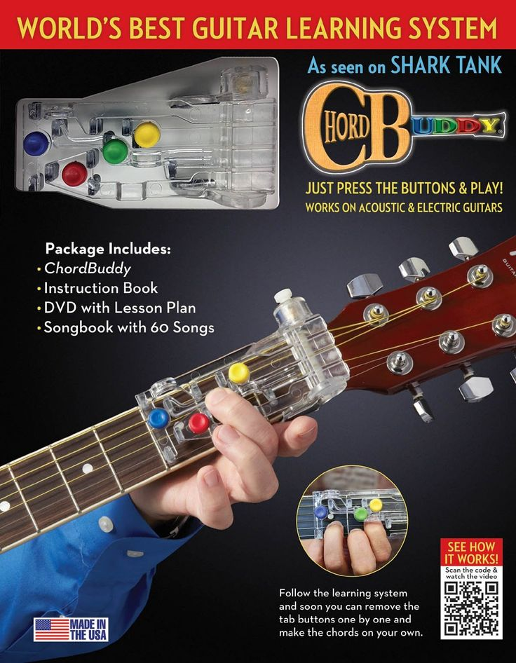 The Chord Buddy isn't meant to just be a crutch. It's a unique learning system that actually teaches you guitar through the process of removing one button at a time. Over a period of 2 months, you are slowly weaned off of the Chord Buddy and playing guitar completely on your own...http://allsharktankproducts.com/best-shark-tank-products/chord-buddy-guitar-learning-system/ #sharktank