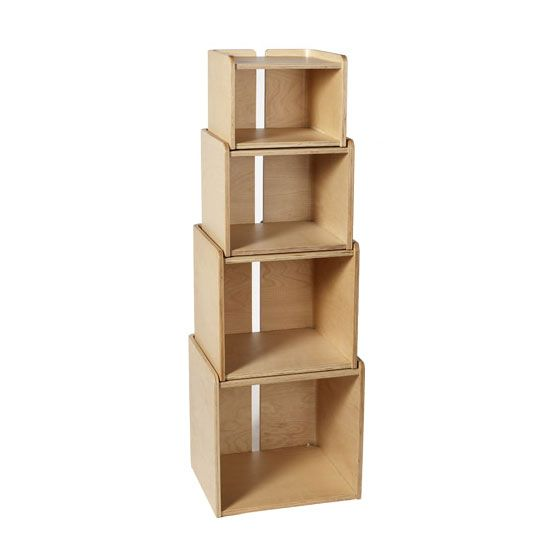 """Nesting Storage Cubes in Maple   dotandbo.com;  [ Daily Inspiration quote from 2.12.14 Dot&Bo email (where I found this item): """"The mathematical sciences particularly exhibit order, symmetry, and limitation; and these are the greatest forms of the beautiful."""" - Aristotle ]"""