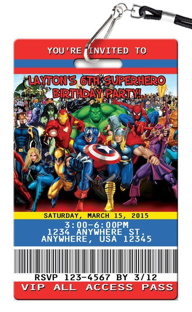 The 25 best Superhero invitations ideas – Superhero Birthday Invite