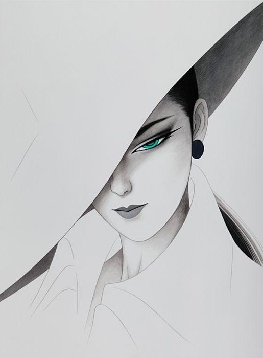 Ichiro Tsuruta カレンダー. Bijin-ga (美人画). Ilustración | Illustration