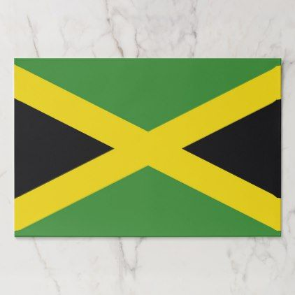 Tearaway paper pad with Flag of Jamaica - paper gifts presents gift idea customize