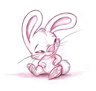 Adorable Bunny Rabbit Character Concept Sketch by B. Sleven ©