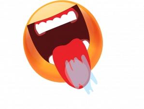Emoticon lick lips gif