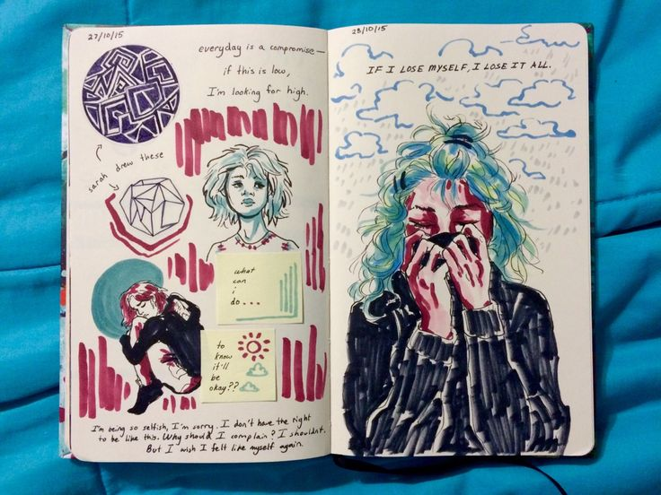 art journal p. 55 and 56