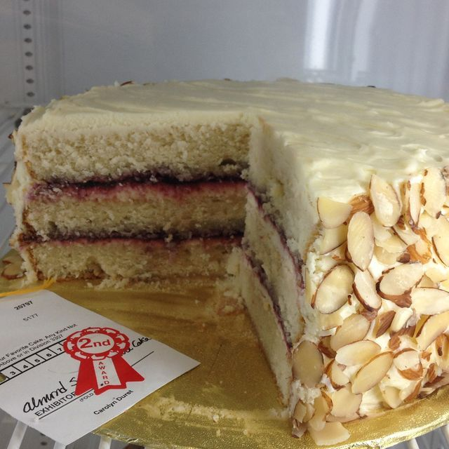 Almond Scented White Cake took second place at the State Fair, but has ...