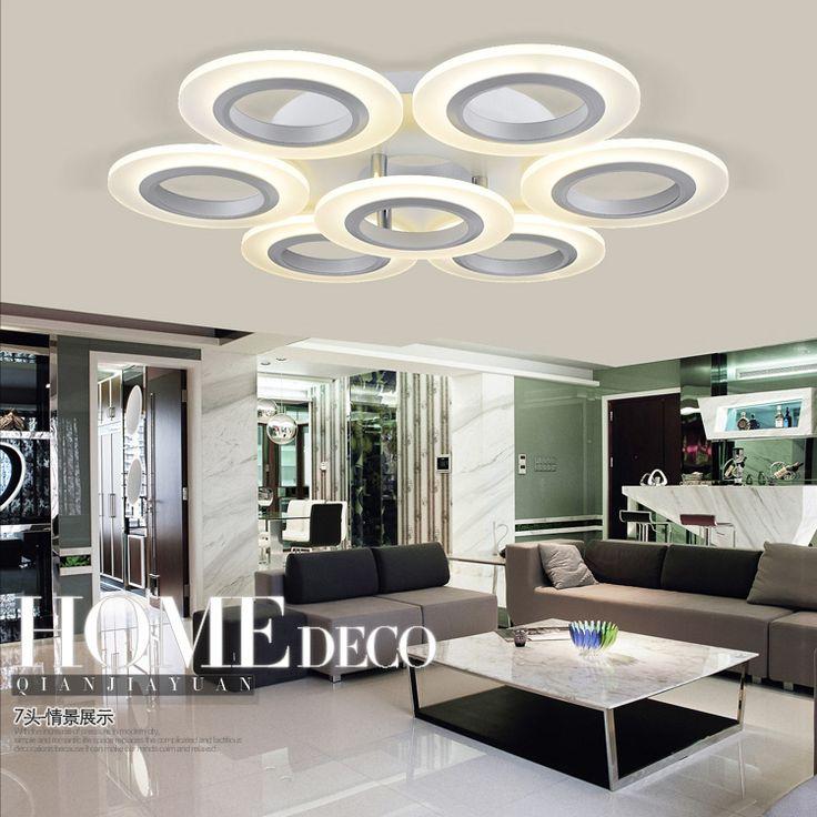 Круглый светодиодный потолочный светильник акриловая современный минималистский спальня гостиная теплый и романтичный номер атмосфера Art Light - Taobao