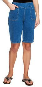 "Denim & Co. As Is How Timeless"" Bermuda Shorts with Pockets"