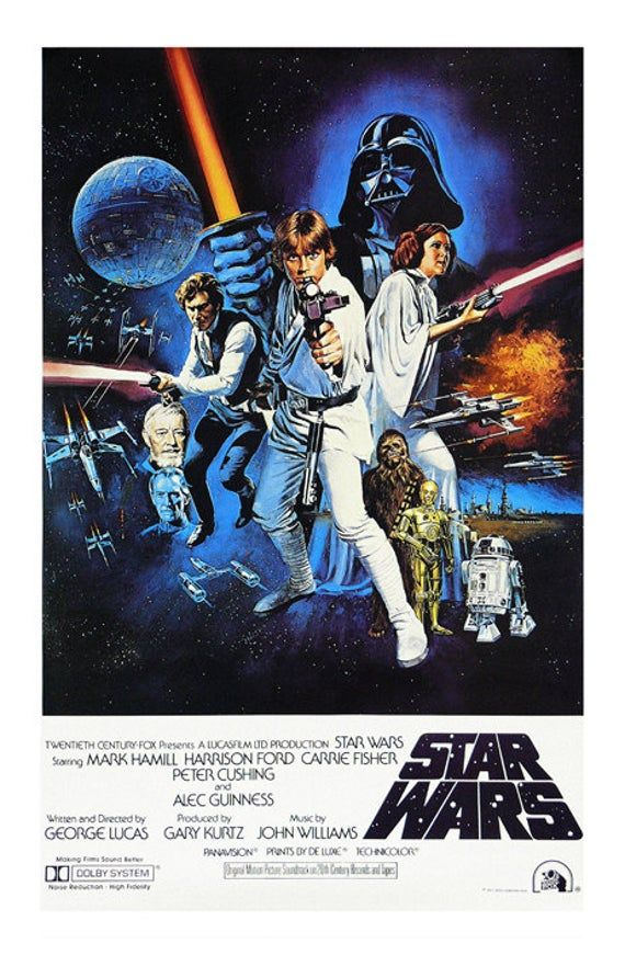 Vintage Japanese Star Wars Movie Art Silk Poster 12x18 24x36