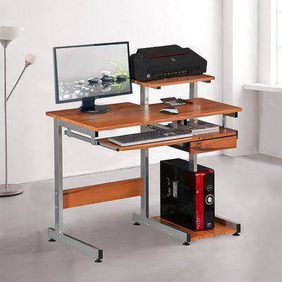 Ebern Designs Velia Compact Computer Desk In 2020 Computer