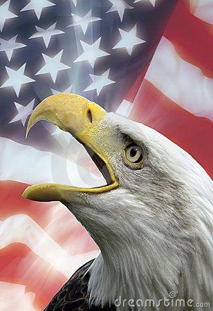 Patriotic Symbols of The United States of America.