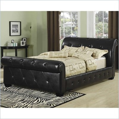 Best Coaster Queen Tufted Faux Leather Upholstered Sleigh Bed 400 x 300