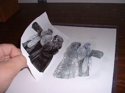 acetone easy image . Transfert d'image avec de l'acétone . Page de magazine ou photocopie ( pas de papier photo)