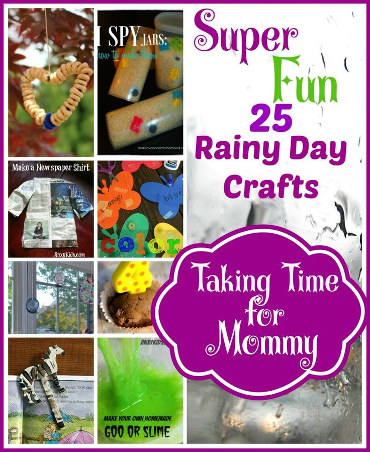 25 Rainy Days Crafts