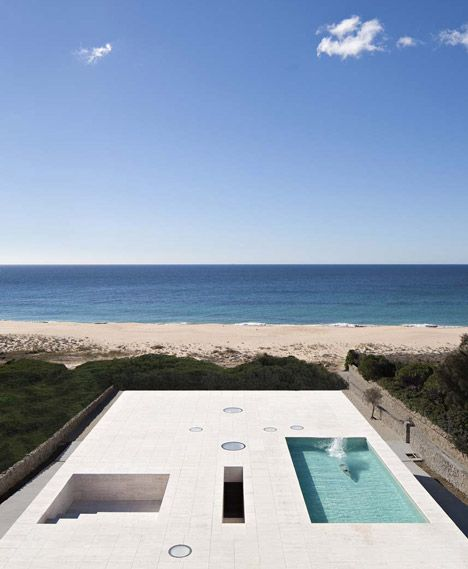 "House of the Infinite by Alberto Campo Baeza designed as ""a jetty facing out to sea""."