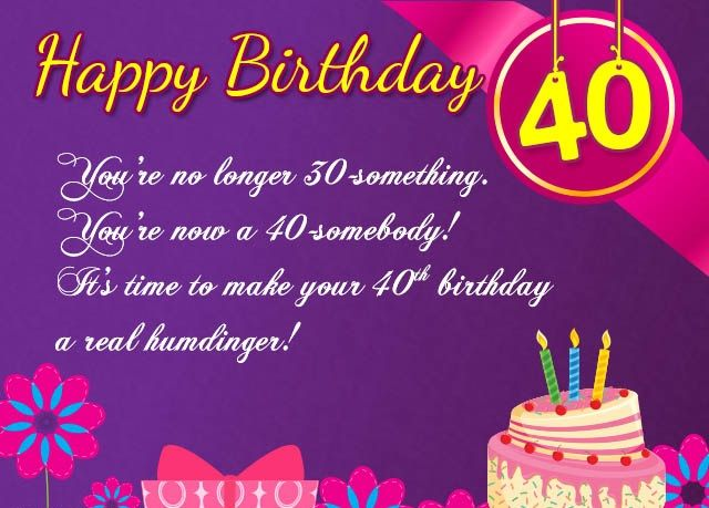 40th Birthday Wishes For Sister 40th Birthday Quotes Birthday Wishes Quotes Happy Birthday Quotes Funny