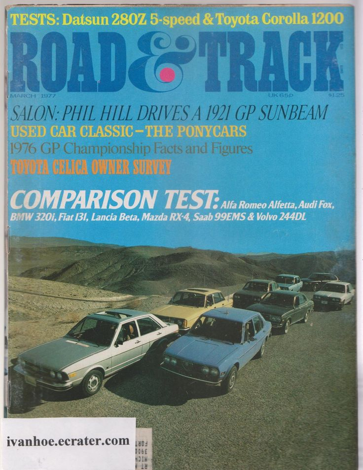 Road and Track Magazine Lot of 12 Issues 1965-2000