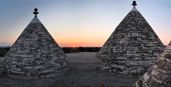 Sunset at Abate Masseria  #trulli #puglia #alberobello