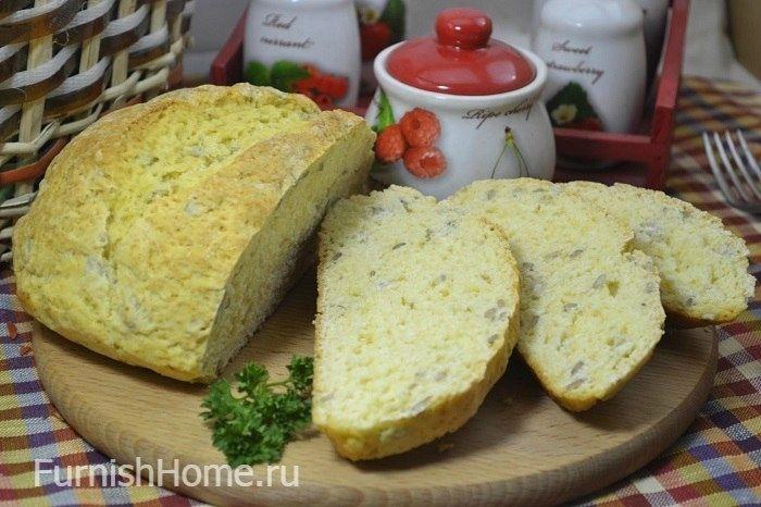 Хлеб на кефире с семечками