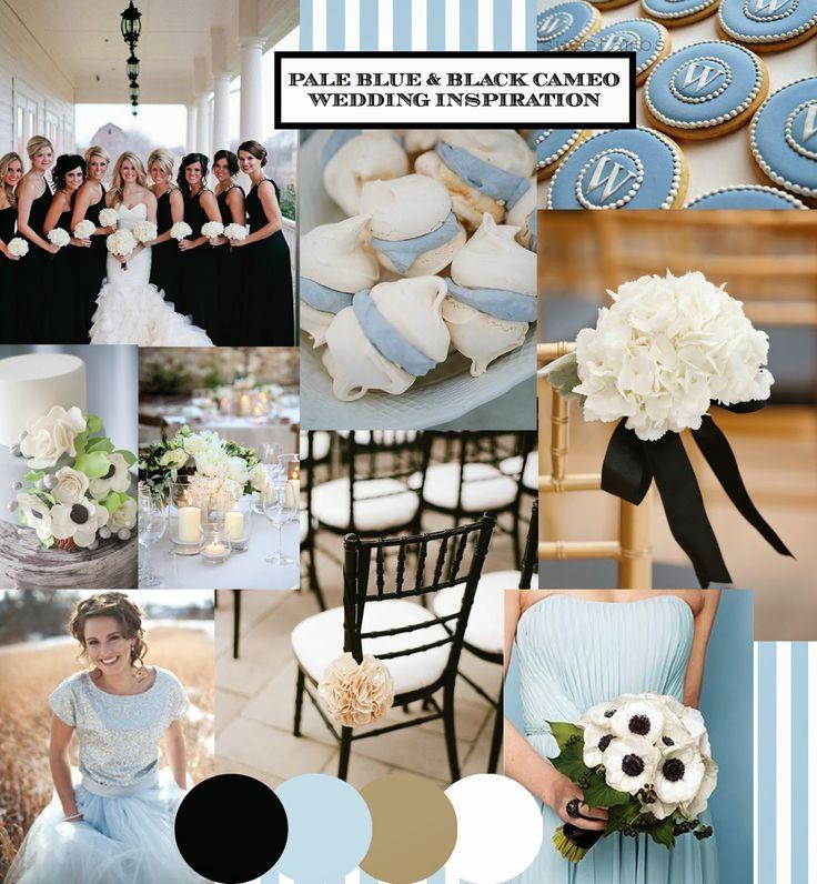 Wedgewood Blue & Black Vintage Cameo wedding inspiration moodboard from http://knotsandkisses.blogspot.com