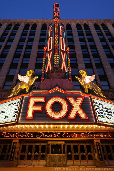 Fox Theatre (Detroit, Michigan) -- © 2011 Joe Braun Photography.