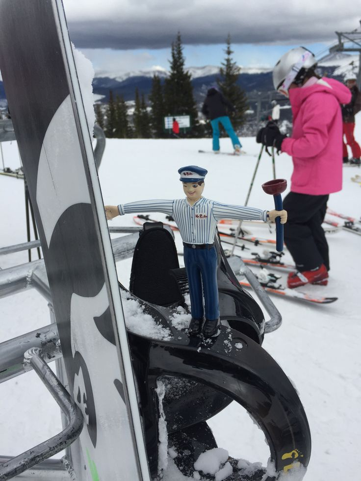Mr. Rooter is skiing today. Hopefully he makes it down the black diamond slopes!
