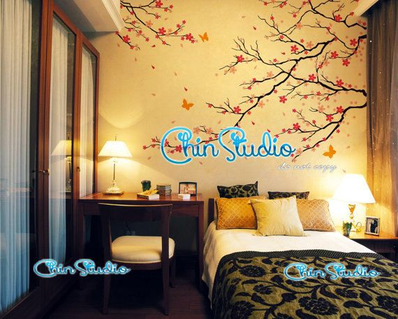 Description: Checks out this romantic cherry blossom branch wall decal. This decal can be made Reversed as well! Our wall decals are ideal for