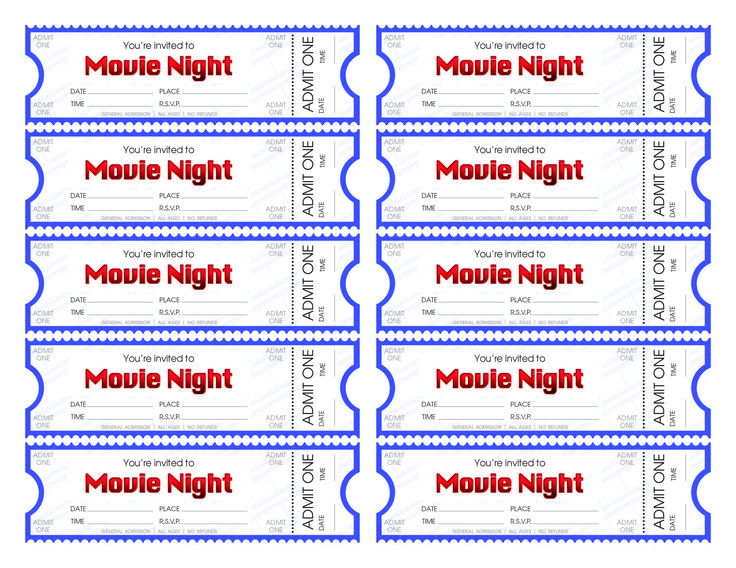 Best 25+ Movie ticket template ideas on Pinterest Movie party - printable ticket template free