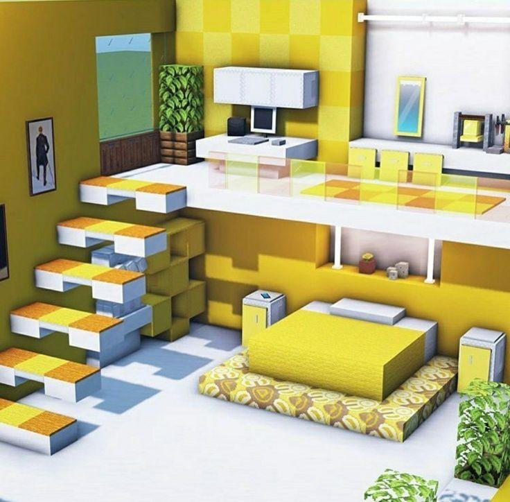 #Modern #Interior #Design #Minecraft💛 in 2021 | Easy ...