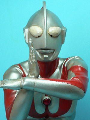 Ultraman -- I have the trash can that my brother got in Hawaii when we lived there when we were kids