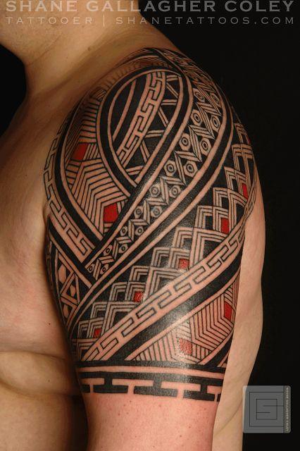 SHANE TATTOOS: Grafismo Indigena Half Sleeve