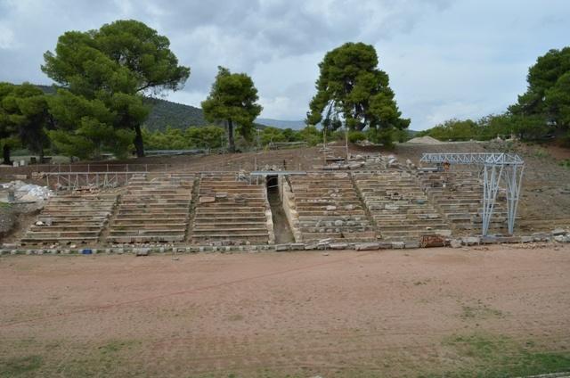 tunnel entrance of the ancient stadium of Epidavros