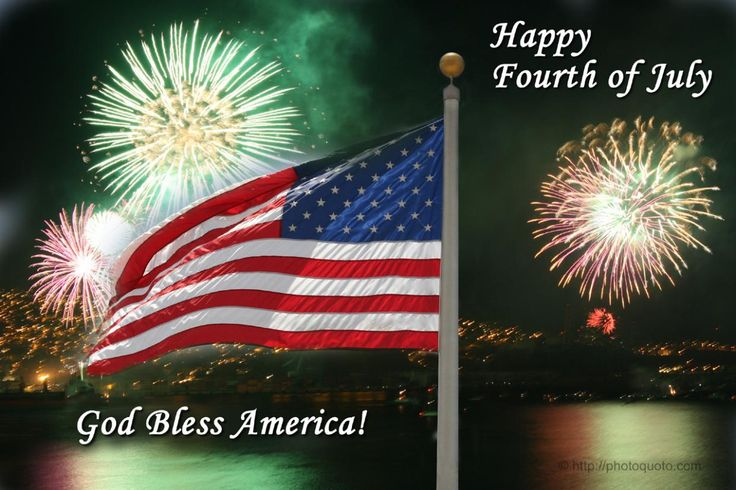 Happy July 4th! Wishing everyone a blessed Independence Day! :)