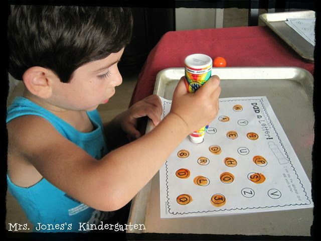 Letter, number, & sight word practice with a Bingo Dabber! Perfect for beginning of the year K $